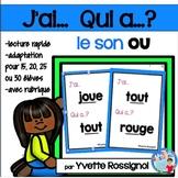 J'ai... Qui a...?  Mots fréquents, Le son OU (French phonics) lecture