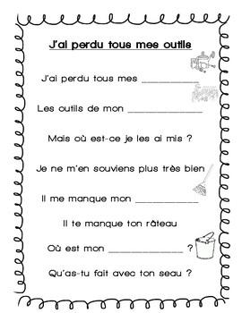 Jai Perdu Mes Outils Poème Le Jardin Les Plantes By