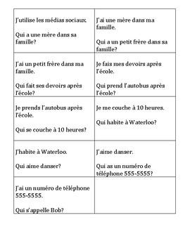 J'ai qui a ... French intros game