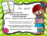 J'ai ... qui a? Nombres décimaux // FRENCH I have, who has