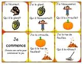 J'ai qui à de l'automne  (I have... who has? Fall theme) FRENCH