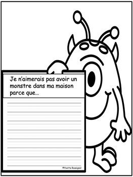 """J'ai un monstre dans ma maison! (Comptine et activités pour le son """"ai"""")"""