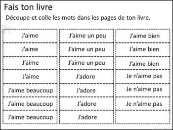 J'aime Bien Manger ~ French Aimer Foods Reader & Build-A-Book