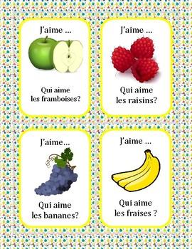 La nourriture - Qui aime...? (Fruits) - Question Chain Game