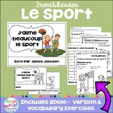J'aime beaucoup le sport ~ French Sports Reader & BOOM™ version with audio