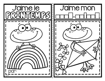J'aime le printemps ❀ French Emergent Reader