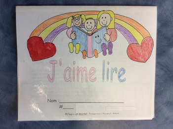 J'aime lire- FRENCH Reading Incentive Program for 5 and 6 year olds