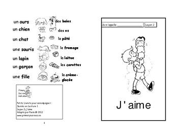 2) J'aime- livret de lecture   ENFANT C1  M et 1ère
