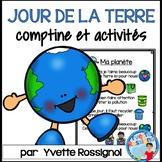 Comptine et activités pour LE JOUR DE LA TERRE   French EARTH DAY activities