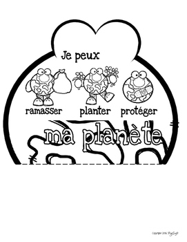 French Earth Day Flip Book - J'aime ma planète