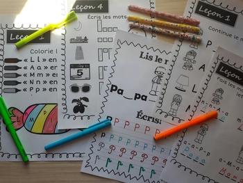 J'apprends à lire en français - Leçon 7 (French Phonics Activities)