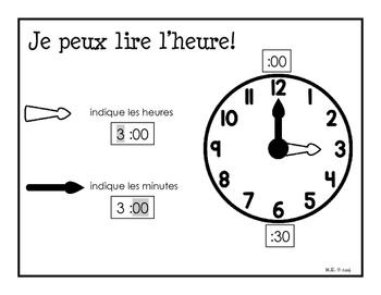 J'apprends l'heure (heure et demi-heure)