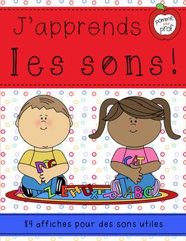 J'apprends le français - Les sons -- French Sound Posters (B&W)