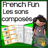 French Phonics Activities, 12 sons composés, 19 Worksheets