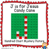 J for JESUS Candy Cane Christmas Hundred Chart Mystery Picture with Bible Clue