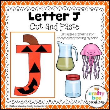 Letter J (Jack-O-Lantern) Cut and Paste