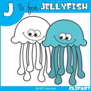 J is for Jellyfish Clip Art