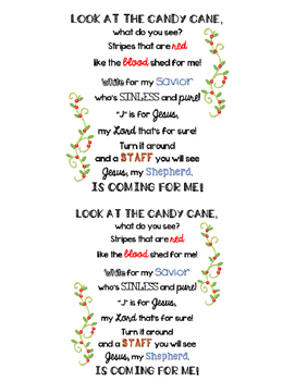 J Is For Jesus Candy Cane Craft Poem By Jen Wood Tpt