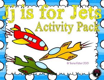 J is for Jets Activity Pack Alphabet Common Core {K.RF.1 K