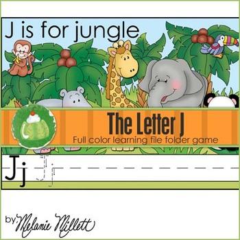 J is for Jungle File Folder Game