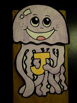 J is for jellyfish paper bag puppet