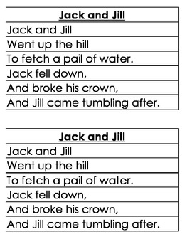 JACK AND JILL CENTER DIFFERENTIATED for multiple learners