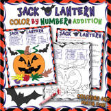 JACK O LANTERN Coloring by Numbers worksheet Addition (wit
