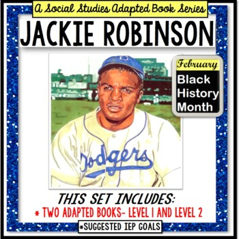 JACKIE ROBINSON Black History Month ADAPTED BOOK for Special Education