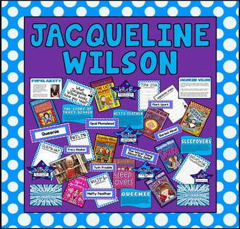JACQUELINE WILSON - TEACHING DISPLAY -ENGLISH READING AUTHOR LIBRARY