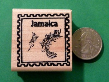 JAMAICA Country/Passport Rubber Stamp