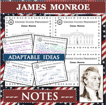 JAMES MONROE U S  PRESIDENT Notes Research Project Biography