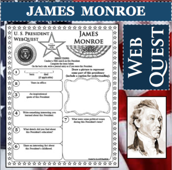 James Monroe Worksheets & Teaching Resources | Teachers Pay