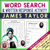 JAMES TAYLOR Word Search and Research Activity for Middle