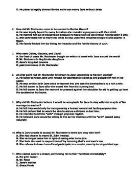 JANE EYRE Close Reading Test, Part Three (Chapters 1-12, Volume 3)