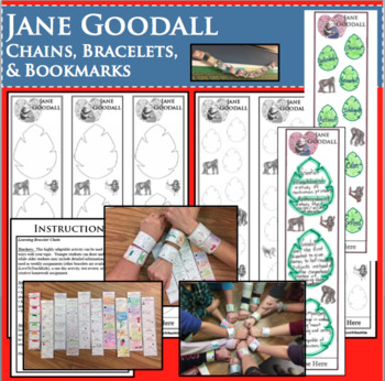 JANE GOODALL Chains Bracelets Research Project Biography
