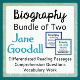 JANE GOODALL Differentiated BUNDLE 2 Resources Grades 4-9 Texts, Activities