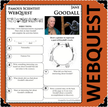 JANE GOODALL Science WebQuest Scientist Research Project Biography Notes