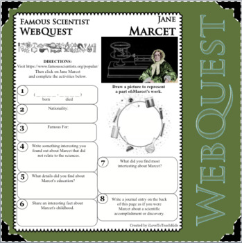 JANE MARCET - WebQuest in Science - Famous Scientist - Differentiated