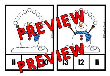DECEMBER ACTIVITIES KINDERGARTEN (WINTER COUNTING CENTERS) NUMBERS 1-20
