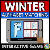 DECEMBER ALPHABET LETTERS (WINTER ACTIVITIES KINDERGARTEN) BOOM CARDS ELA