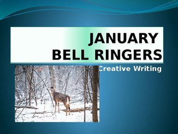 JANUARY BELL RINGERS with IMAGES  / Creative Writing Prompts