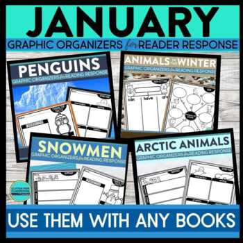 JANUARY BUNDLE | Graphic Organizers for Reading | Reading Graphic Organizers