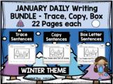 JANUARY - Daily Writing Bundle - THREE levels!!!