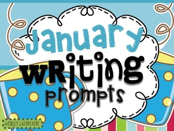 JANUARY Writing Prompts (30 count) - task cards and poster