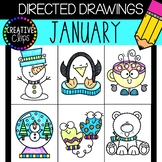 JANUARY Directed Drawings: Winter {Made by Creative Clips Clipart}