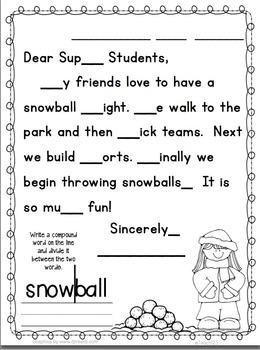 January Morning Messages Kindergarten First Grade