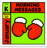 Morning Messages January Kindergarten