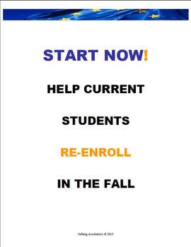 JANUARY (Fall) REGISTRATION PLAN –Retain Students / Increa