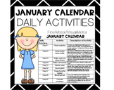 JANUARY Fine Motor/Visual Motor (Daily Activities)