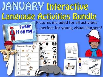 JANUARY Interactive Language Activities Bundle